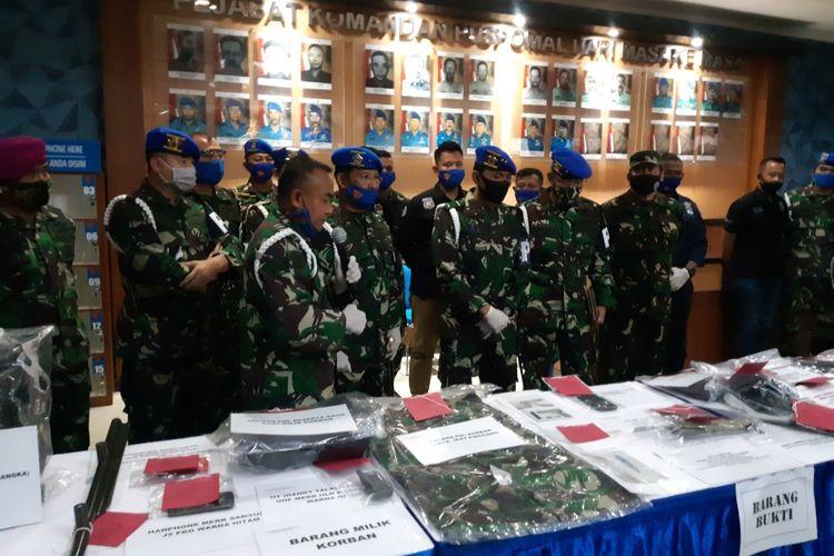 Komandan Pusat Polisi Militer (Danpuspom) TNI Mayjen TNI Eddy Rate Muis dalam konferensi pers di Puspomal TNI AL, Kelapa Gading, Jakarta Utara, Kamis (2/7/2020)