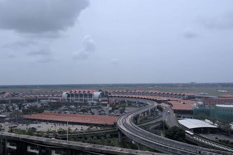 Jalur Skytrain penghubung antar Terminal Bandara Soekarno-Hatta, Rabu (11/3/2020)