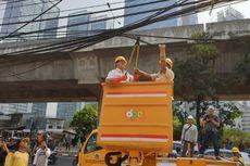 Dinas Bina Marga Potong Kabel Semrawut Sepanjang 2,3 KM