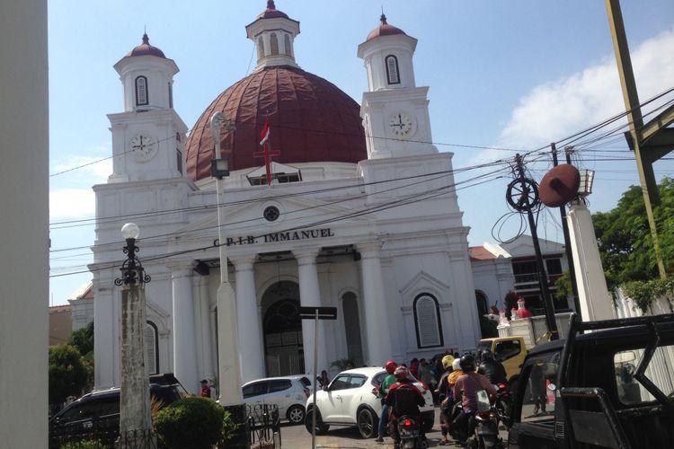 Gereja Blenduk menjadi salah satu bangunan cagar budaya di Kota Lama, Semarang.