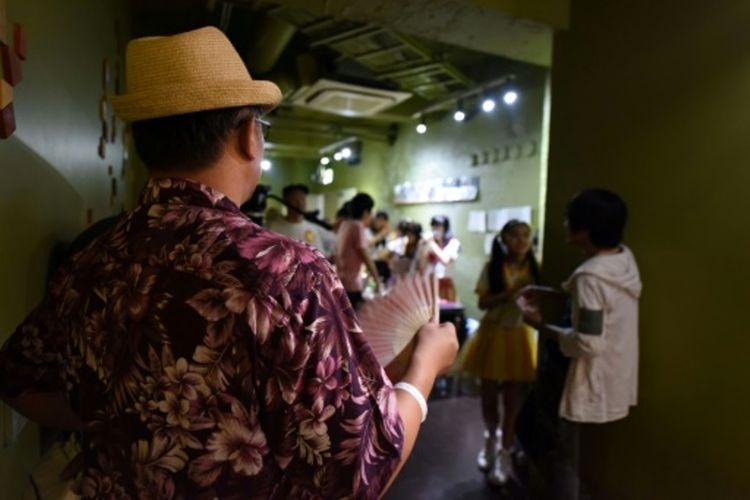 Fenomena idola cilik di Jepang. Para gadis kecil merintis karir dari panggung sederhana di Tokyo, Jepang. (AFP via Japan Today).
