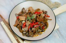 Resep Oseng Jamur Merang Pedas, Ide Makan Siang ala Warteg
