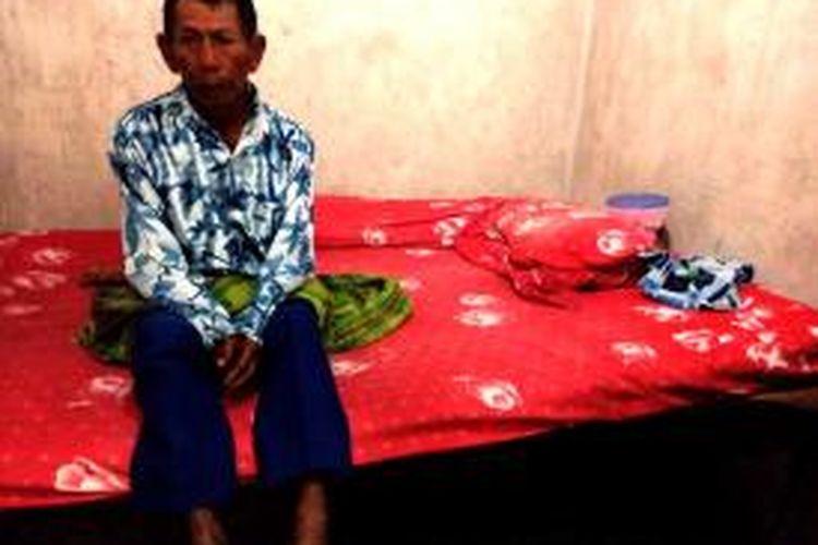 Sulih, korban yang selamat dari sambaran petir di Desa Singonjuruh Kecamatan Singonjuruh Kabupaten Banyuwangi