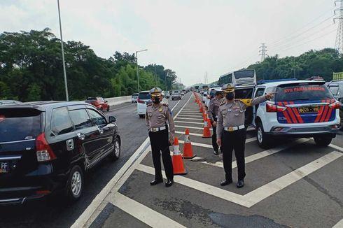 Contraflow Diberlakukan di Tol Japek Mulai KM 65-47