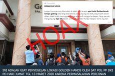 Kabar Penyegelan Spa Hotel Goldenhands Kelapa Gading karena Suspect Virus Corona Dipastikan Hoaks