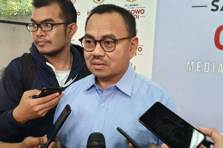 Direktur Materi Debat Badan Pemenangan Nasional (BPN) Prabowo Subianto-Sandiaga Uno, Sudirman Said
