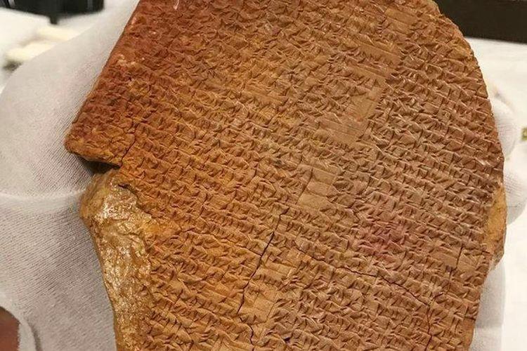 Tablet Mimpi Gilgamesh yang dikembalikan ke Irak