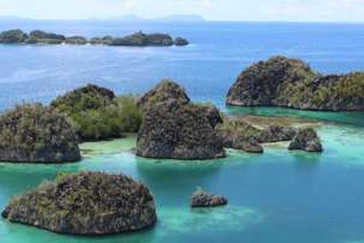 Pianemo, destinasi wisata favorit di Kabupaten Raja Ampat, Papua Barat.