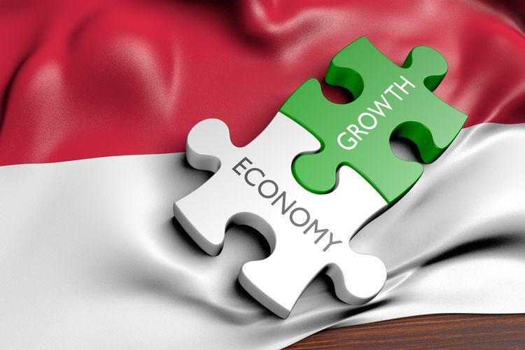 Ilustrasi perekonomian Indonesia.