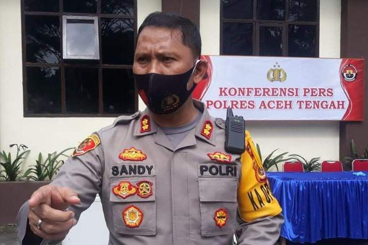 Kapolres Aceh Tengah, AKBP Sandy Sinurat SIK, saat diwawancara awak media, Kamis (15/10/2020).