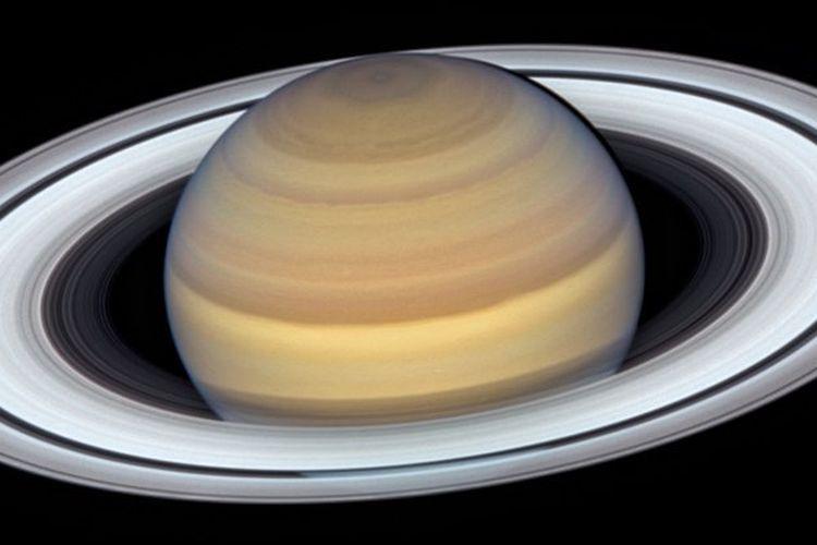 Potret terbaru Planet Saturnus dari teleskop Hubble