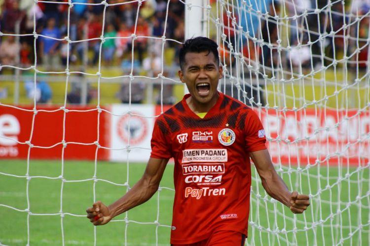 Afriansyah salah satu pemain yang dipertahankan Semen Padang untuk Liga 1 2019.
