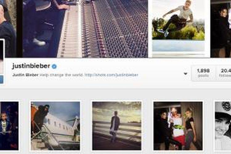 Follower Justin Bieber mengalami penurunan cukup signifikan akibat kebijakan baru Instagram