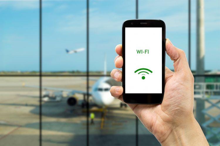 Ilustrasi wifi di bandara