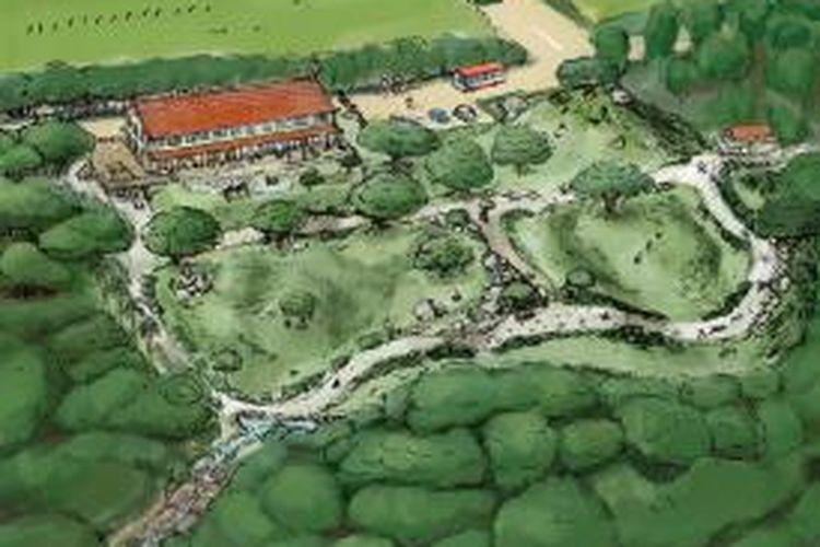 Taman tersebut akan dibangun dalam hutan yang belum terjamah seluas 10.000 meter persegi, dengan fasilitas yang mengintegrasikan bangunan dan alam. Taman ini dijadwalkan selesai pada 2018 di Kumejima Island, yang terletak sekitar 55 mil barat dari pulau Okinawa.