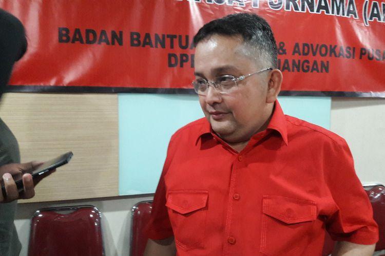 Ketua Bidang Hukum, HAM dan Perundang-undangan PDI Perjuangan Trimedya Panjaitan.