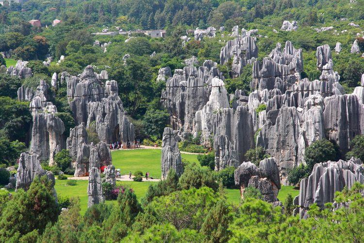 Hutan batu atau Shilin di China merupakan situs warisan dunia UNESCO.