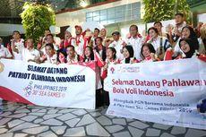 Tiba di Indonesia, Tim Bola Voli Indoor Indonesia Dapat Sambutan