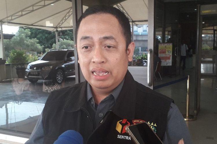Ketua Tim Sentra Gakkumdu Bawaslu DKI Jakarta Puadi di Mapolres Metro Jakarta Utara, Selasa (16/4/2019).