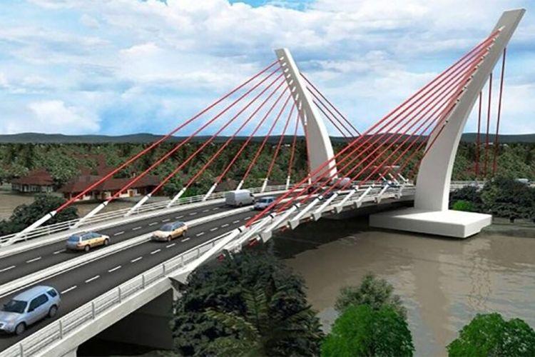 Rendering Jembatan Sei Alalak, Banjarmasin, Kalimantan Selatan.