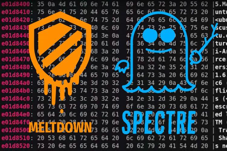 Ilustrasi bug sekuriti Meltdown dan Spectre.