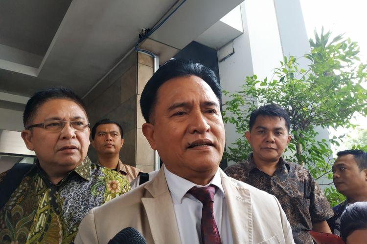 Yusril Ihza Mahendra di Kantor Kemendagri, Jakarta Pusat, Rabu (15/1/2020).
