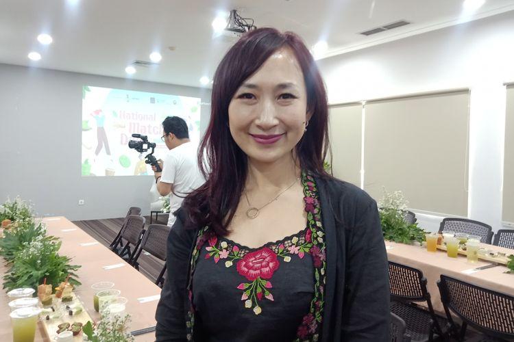 Founder Indonesia Tea Institute sekaligus Pakar teh Ratna Somantri pada konferensi pers National Matcha Day with Matchamu di kawasan Kuningan, Jakarta Selatan, Selasa (14/1/2020).