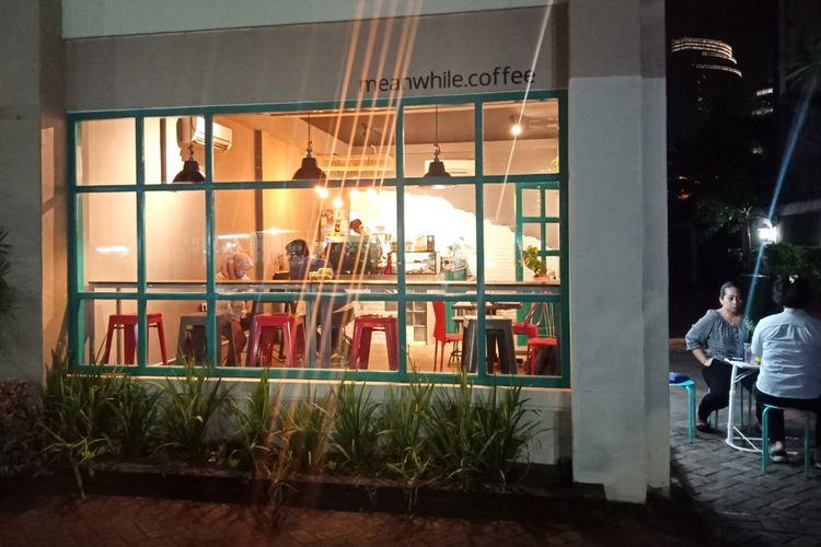 Suasana kafe kopi Meanwhile, yang dipilih Ridwan Kamil bertemu dengan Sandiaga Uno di Mega Kuningan, Jakarta saat diku jungi KompasTravel, Senin (17/9/2018).
