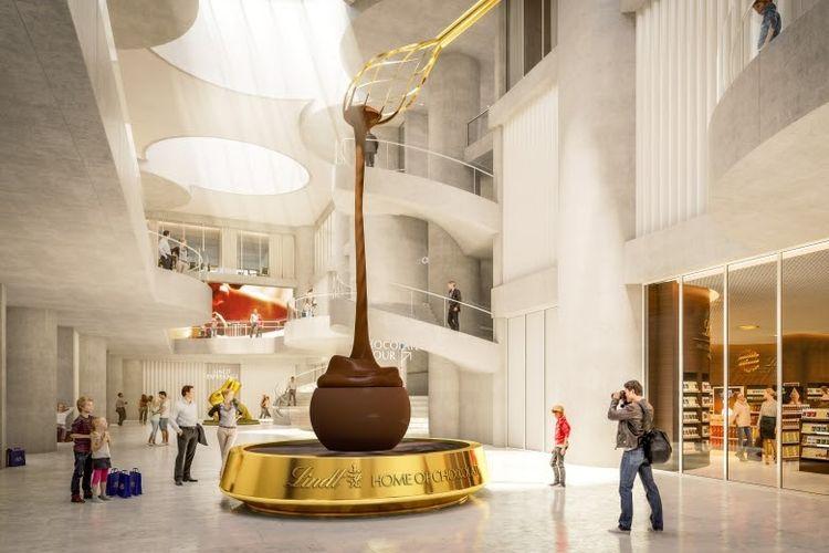 Air mancur cokelat setinggi 9 meter di Lindt Home of Chocolate