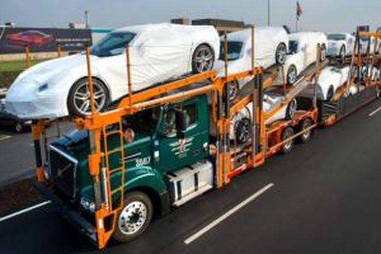 Ekspor mobil AS naik menembus 2 juta unit dari sebelumnya hanya 1,8 juta unit.