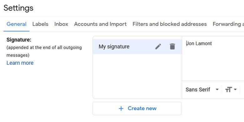 Cara membuat tanda tangan di gmail