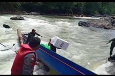Perahu Pembawa Kotak Suara Pilkada Kapuas Hulu Karam karena Tabrak Batu