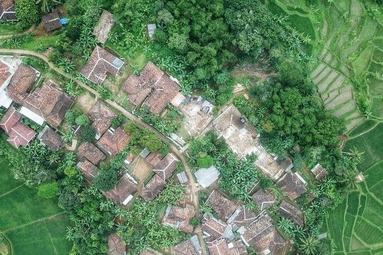 Lokasi permukiman Kampung Ciherang Kaler, Dusun Ciherang, Desa Cijangkar, Kecamatan Nyalindung, Sukabumi, Jawa Barat. Foto diambil Senin (18/1/2021).