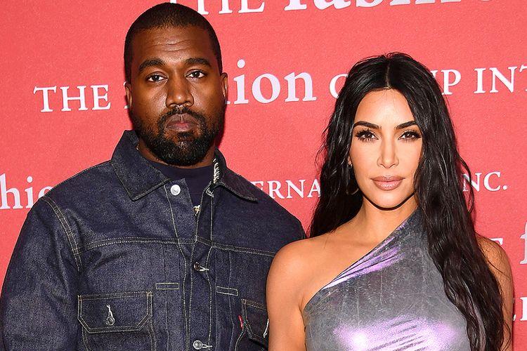 Kanye West dan Kim Kardashian West.