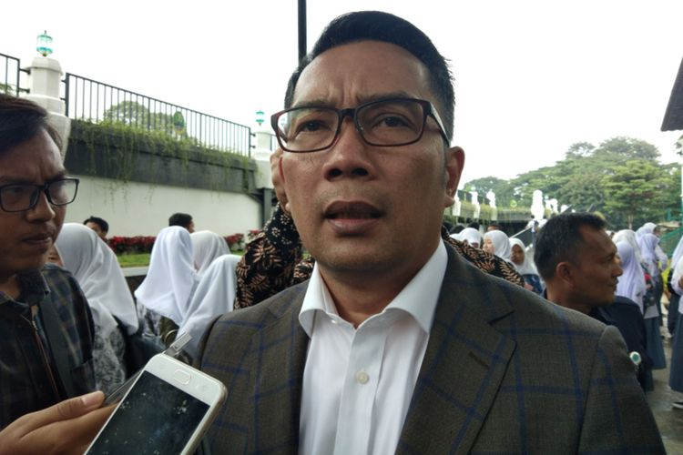 Gubernur Jawa Barat Ridwan Kamil saat ditemui di Gedung Sate, Jalan Diponegoro, Kamis (12/3/2020).