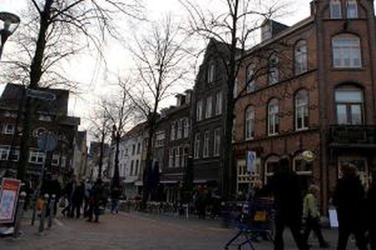 Salah satu sudut jalan di Venlo, Belanda.