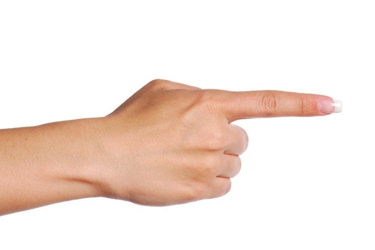Ilustrasi tangan, telunjuk, jari tangan