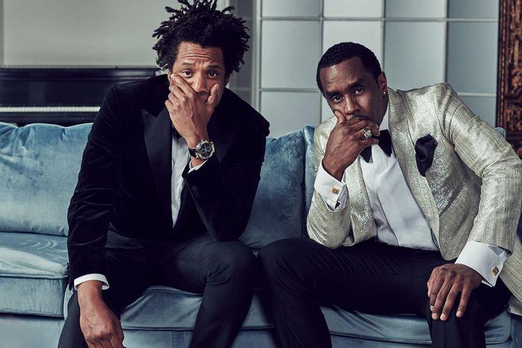 Rapper Jay-Z (kiri) mengenakan arloji Patek Philippe ketika menghadiri ulang tahun Diddy.