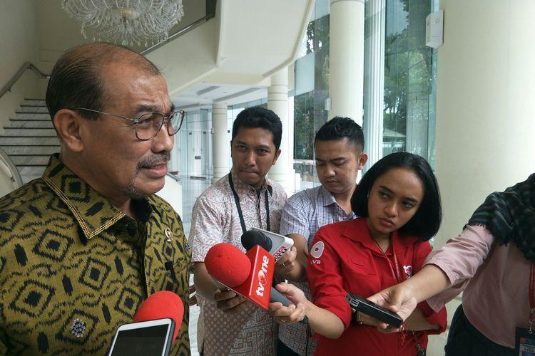 Wakil Ketua DPD Nono Sampono usai bertemu Wapres Maruf Amin