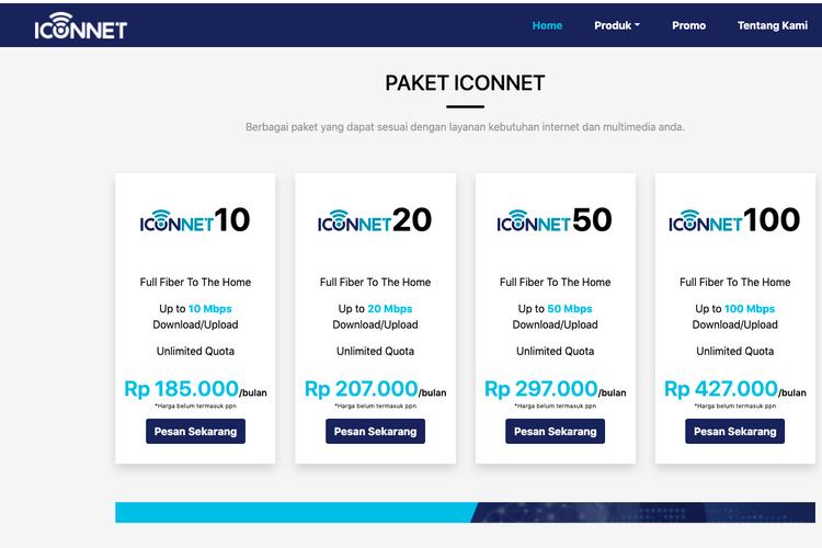 Tarif internet Iconnet PLN