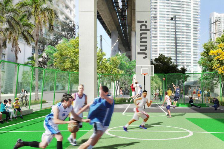Inisiator proyek, Meg Daly, mengatakan, ide awal untuk membangun taman ini datang ketika dia harus menggunakan transportasi publik
