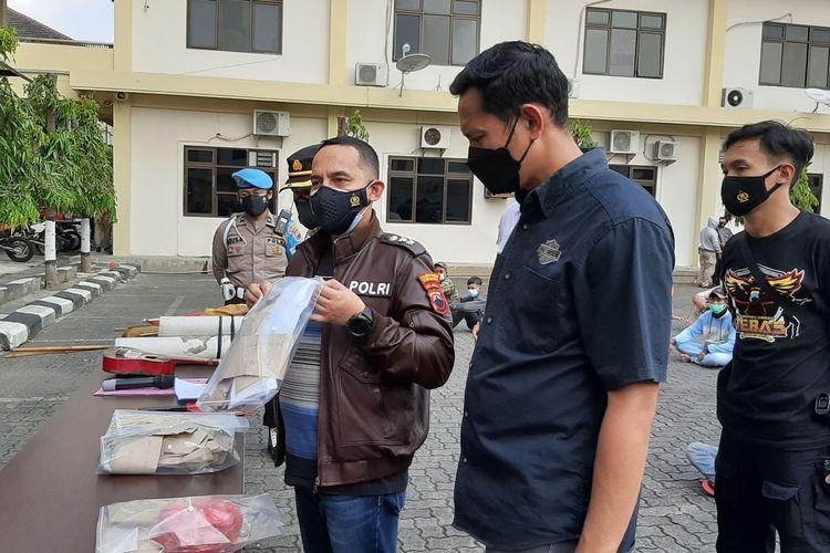 Kabag Ops Polrestabes Semarang AKBP Recky di Mapolrestabes Semarang, Sabtu (12/6/2021).