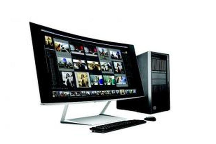 Monitor HP Envy 34c memiliki layar yang melengkung dengan aspect ratio 21:9