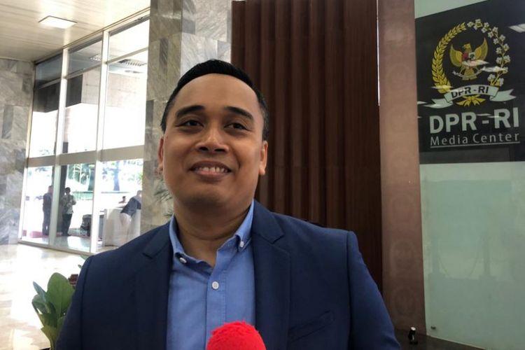 Wakil Sekjen Partai Demokrat Putu Supadma Rudana di kompleks parlemen, Kamis (15/11/2018).