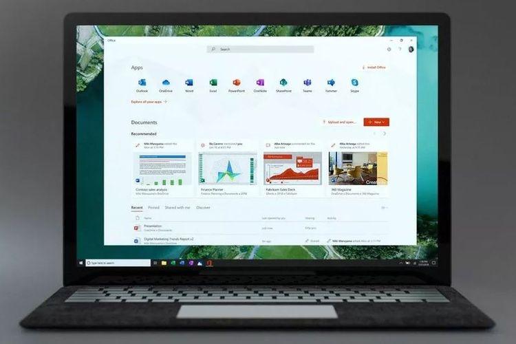 Ilustrasi aplikasi Office terbaru di Windows 10