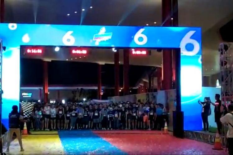 Acara Indonesia Night Run 2019 di BSD City, Tangerang, Sabtu (30/11/2019)