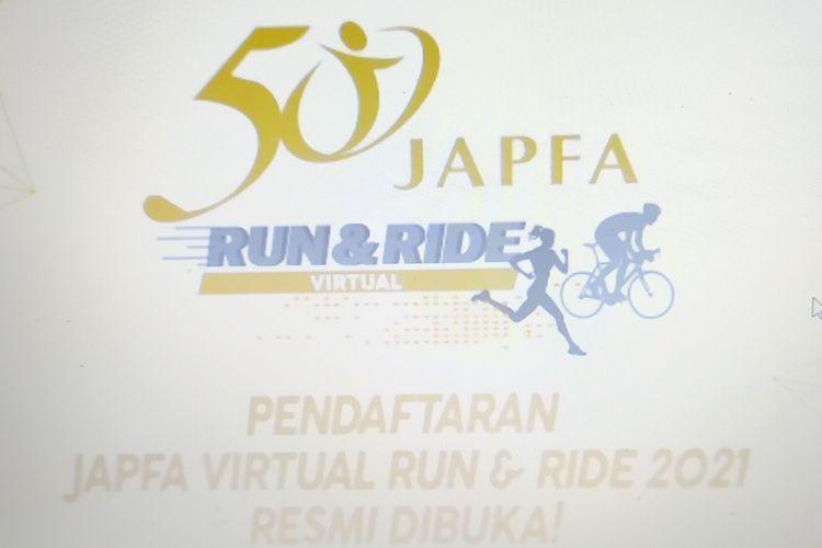 Tangkapan layar pembukaan pendaftaran Japfa Virtual Run & Ride 2021 pada Kamis (9/9/2021) melalui laman www.japfacomfeed.co.id .