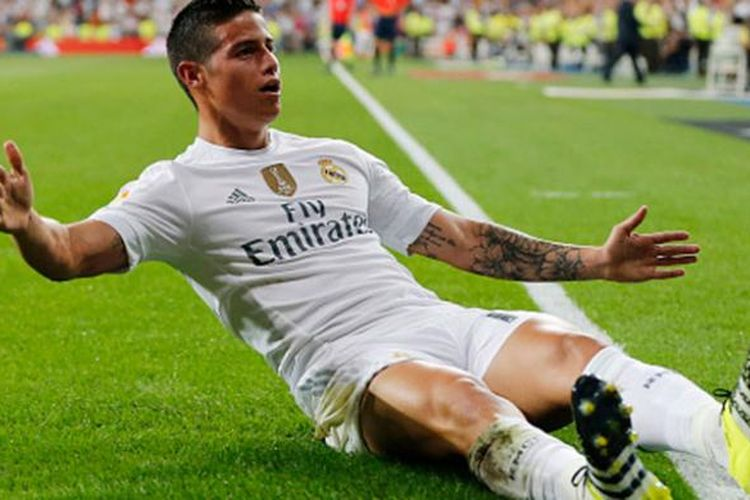 Gelandang Real Madrid asal Kolombia, James Rodriguez.