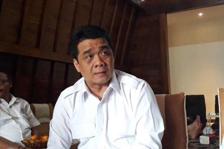 Ketua DPP Partai Gerindra Ahmad Riza Patria di Wisma Garuda, Pondok Ranggon, Cipayung, Jakarta Timur, Minggu (29/12/2019).