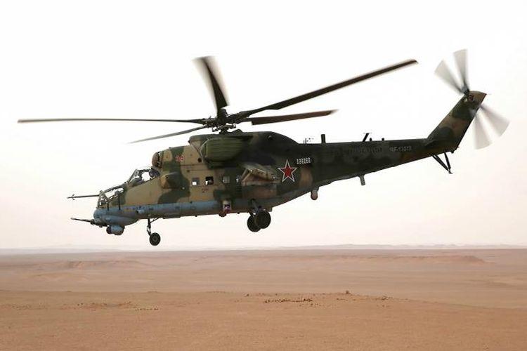 Helikopter dan jet tempur militer Rusia sering terlihat melintasi wilayah udara di kawasan perang Suriah.